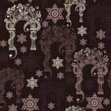 Bezszwowa tekstura z occult symbolem 7 Zdjęcia Stock