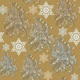 Bezszwowa tekstura z occult symbolem 9 Obraz Royalty Free