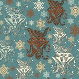 Bezszwowa tekstura z occult symbolem 6 Obrazy Royalty Free