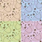 Bezszwowa tekstura z parasolami i różami Zdjęcie Stock