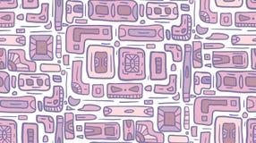 Bezszwowa tekstura z plemiennym doodle wzorem od geometrycznych kształtów Obraz Stock