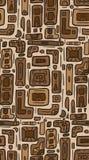Bezszwowa tekstura z plemiennym doodle wzorem od geometrycznych kształtów Zdjęcia Royalty Free