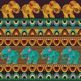 Bezszwowa tekstura z słoniami Fotografia Royalty Free