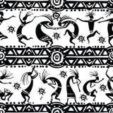 Bezszwowa tekstura z taniec postaciami Obraz Royalty Free