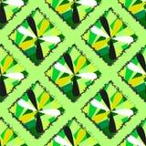 Bezszwowa tekstura z zielonym diamentem royalty ilustracja