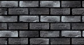 Bezszwowa tekstura zmrok - szary ściana z cegieł Zdjęcie Stock