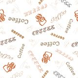 Bezszwowa tekstury słowa kawa Zdjęcie Royalty Free