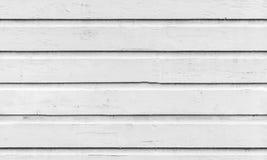 Bezszwowa tło tekstura biała drewniana ściana Fotografia Royalty Free