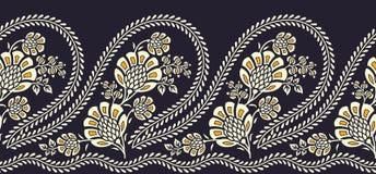 Bezszwowa tradycyjna hindus granica royalty ilustracja