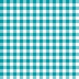 Bezszwowa Turguoise tkaniny wzoru tła W kratkę tekstura ilustracja wektor