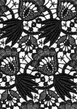 Bezszwowa wektorowa czerni koronka Obrazy Royalty Free