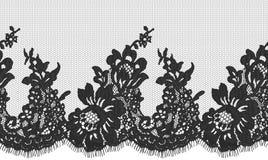 Bezszwowa wektorowa czerni koronka Zdjęcie Royalty Free