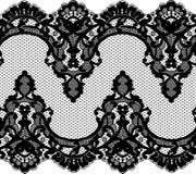 Bezszwowa wektorowa czerni koronka Obraz Royalty Free
