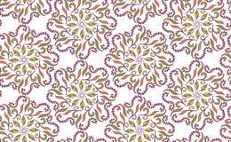 Bezszwowa wektorowa ilustracja abstrakcjonistyczni kwiaty purpurowy gradientowy kolor Etniczny arabski indyjski ornament Dla tape Fotografia Stock