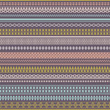 Bezszwowa wektorowa plemienna tekstura Rocznika etniczny plemienny bezszwowy ilustracja wektor