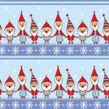 Bezszwowa wektorowa powitanie kartka bożonarodzeniowa Zdjęcia Royalty Free