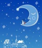Bezszwowa wektorowa powitanie kartka bożonarodzeniowa Fotografia Stock
