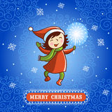 Bezszwowa wektorowa powitanie kartka bożonarodzeniowa Fotografia Royalty Free