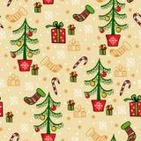 Bezszwowa wektorowa powitanie kartka bożonarodzeniowa Obraz Royalty Free