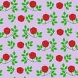 Bezszwowa wektorowa tekstura z abstrakcjonistycznymi różami royalty ilustracja