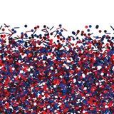 Bezszwowa wektorowa tekstura z czerwonym i błękitem połyskuje Zdjęcie Royalty Free