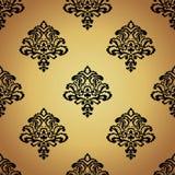 Bezszwowa wzoru Background.Damask tapeta. Obrazy Royalty Free