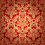 Bezszwowa wzoru Background.Damask tapeta. Obraz Royalty Free