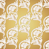 Bezszwowa wzoru Background.Damask tapeta. Fotografia Royalty Free