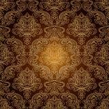 Bezszwowa wzoru Background.Damask tapeta. Zdjęcie Royalty Free