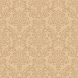 Bezszwowa wzoru Background.Damask tapeta. Zdjęcia Royalty Free