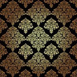 Bezszwowa wzoru Background.Damask tapeta. Fotografia Royalty Free