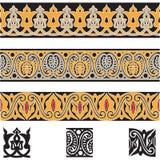 Bezszwowe arab granicy ustawiają 3 royalty ilustracja