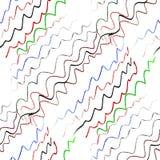 Bezszwowe barwione faliste linie w ołówkowym abstrakcie Obrazy Royalty Free