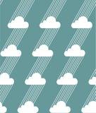 Bezszwowe chmury i deszczu wzór również zwrócić corel ilustracji wektora Zdjęcia Royalty Free