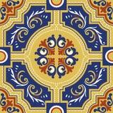 Bezszwowe colourful ornament płytki Fotografia Royalty Free