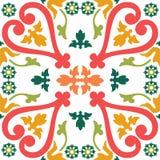 Bezszwowe colourful ornament płytki Obrazy Royalty Free