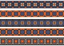 Bezszwowe dekoracyjne granicy Fotografia Stock