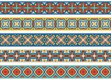 Bezszwowe dekoracyjne granicy Obrazy Stock