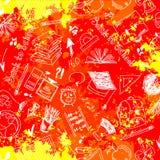 Bezszwowe deseniowe abstrakcjonistyczne szkolne dostawy Zdjęcie Royalty Free