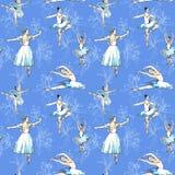 Bezszwowe deseniowe baleriny ilustracji