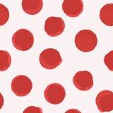 Bezszwowe deseniowe czerwieni kropki Obrazy Stock