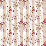 Bezszwowe deseniowe czerwone dzikie jagody rozgałęziają się tekstury tło Obraz Stock