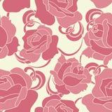 bezszwowe deseniowe różowe róże Obrazy Royalty Free