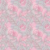 bezszwowe deseniowe róże Zdjęcie Royalty Free