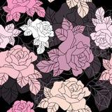 bezszwowe deseniowe róże royalty ilustracja