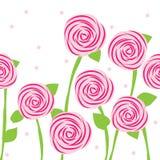 bezszwowe deseniowe róże Zdjęcia Royalty Free