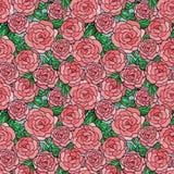 bezszwowe deseniowe róże Zdjęcie Stock