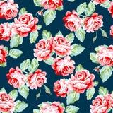 bezszwowe deseniowe róże Zdjęcia Stock