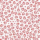 Bezszwowe deseniowe serce kropki Zdjęcia Royalty Free