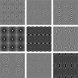 Bezszwowe geometryczne tekstury ustawiać Zdjęcia Royalty Free